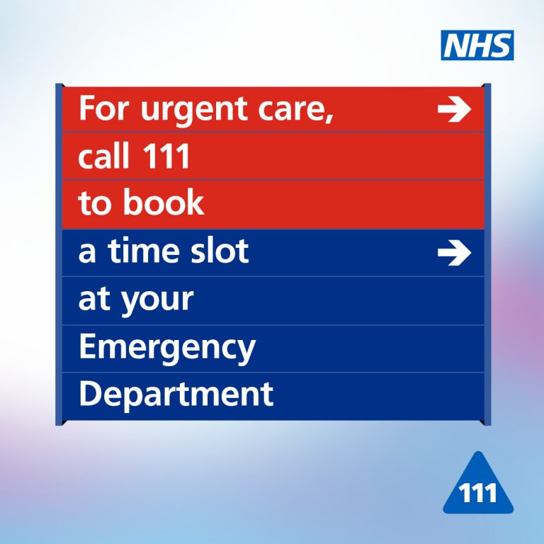 Stay safe and avoid waiting in emergency departments across north Merseyside by contacting NHS 111 First